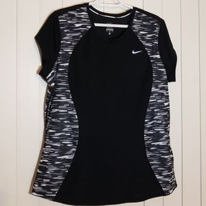 Nike DRI Fit black white grey camo running tee